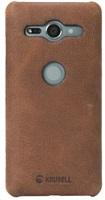 Krusell zadní kryt SUNNE pro Sony Xperia XZ2 Compact, koňaková