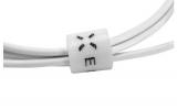 Autonabíječka FIXED + USB-C kabel, 2,4A bílá