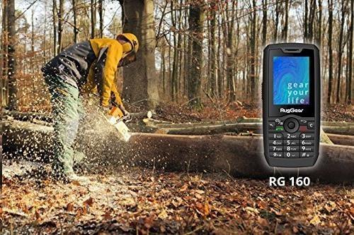 Tlačítkový telefon RugGear RG160