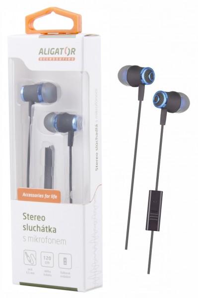 ALIGATOR hands-free sluchátka  AE02 Bass Dynamic, modrá
