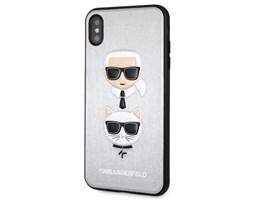 Zadní kryt Karl Lagerfeld Karl&Ch Case na iPhone XS Max, Silver