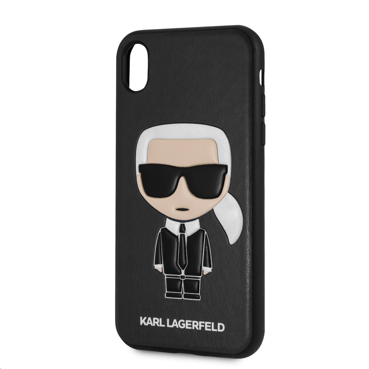 Silikonové pouzdro Karl Lagerfeld Ikonik Case na iPhone XR, black