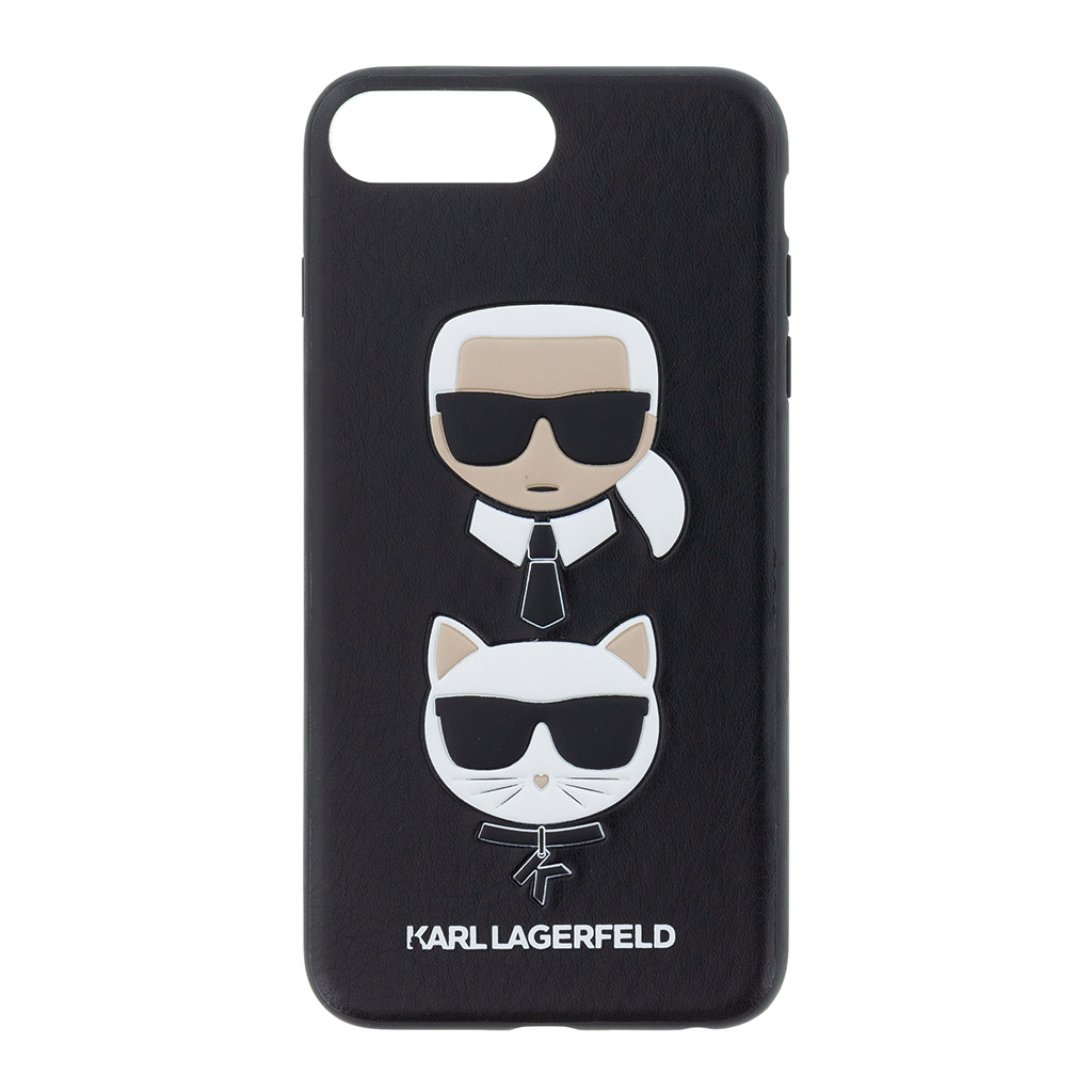 Silikonové pouzdro Karl Lagerfeld Karl and Choupette Hard Case na iPhone 7/8 Plus,black