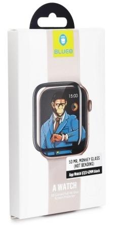 Tvrzené sklo Mr. Monkey pro Apple Watch Series 4 (44 mm), černá