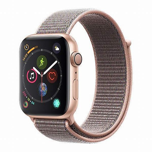 Hodinky Apple Watch Series 4 40mm Rose Gold Aluminium - pískově růžový provlékací pásek