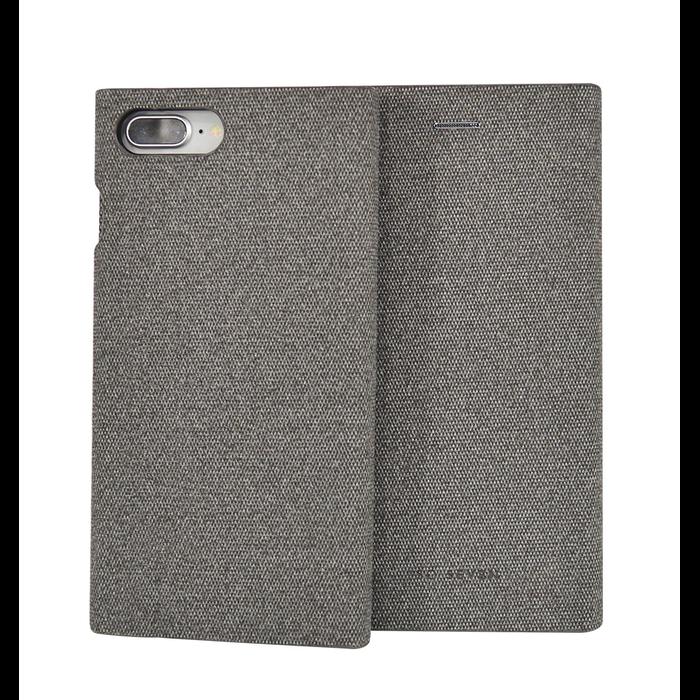 Pouzdro SoSeven Premium Gentleman Book Case Fabric pro iPhone 6/6S/7/8 Plus, Grey