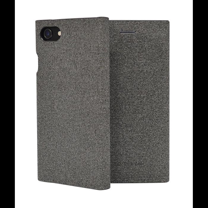 Pouzdro SoSeven Premium Gentleman Book Case Fabric pro iPhone 6/6S/7/8, Grey