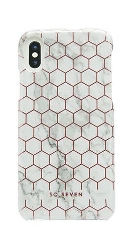 Zadní kryt SoSeven Fashion Milan Hexagonal Marble pro iPhone X/XS, White/Rose