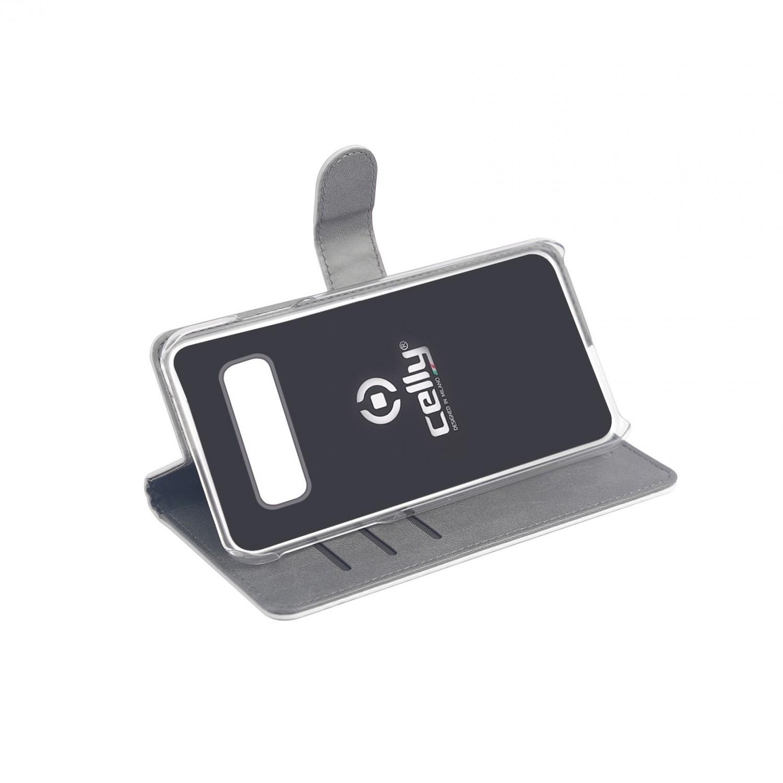 CELLY Wally flipové pouzdro pro Samsung Galaxy S10, bílé