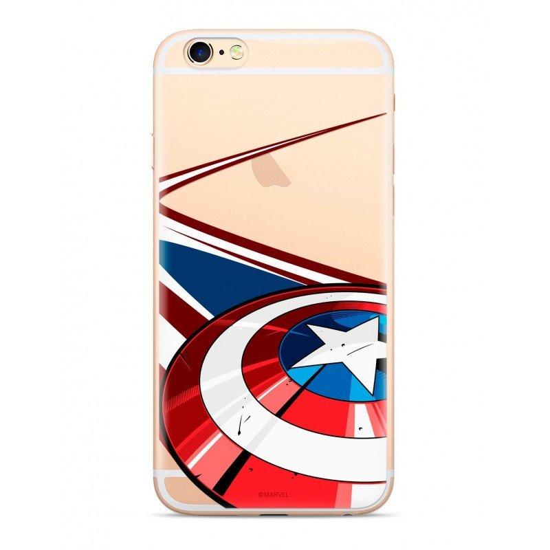 Zadní kryt Marvel Captain America 008 pro Samsung Galaxy S10+, transparent