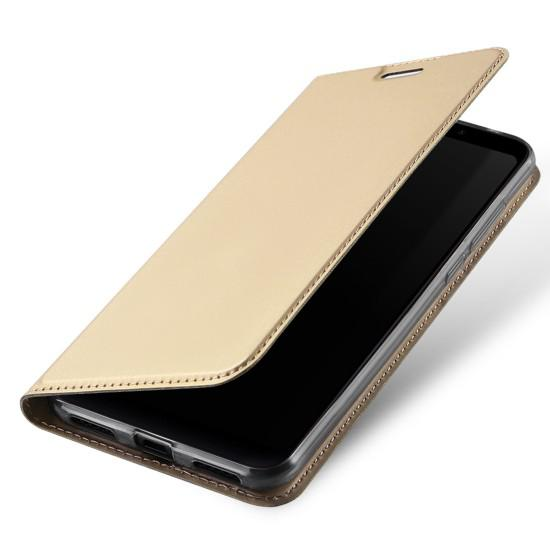 Flipové pouzdro Dux Ducis Skin pro Samsung Galaxy S10+, zlatá