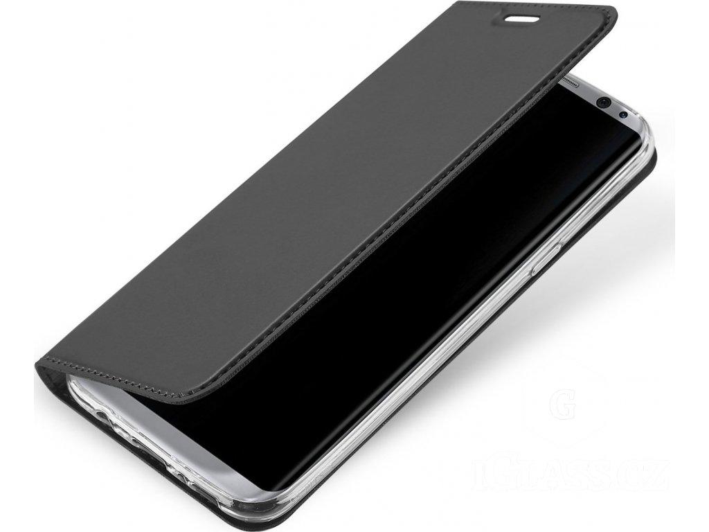 Flipové pouzdro Dux Ducis Skin pro Samsung Galaxy S10+, šedá