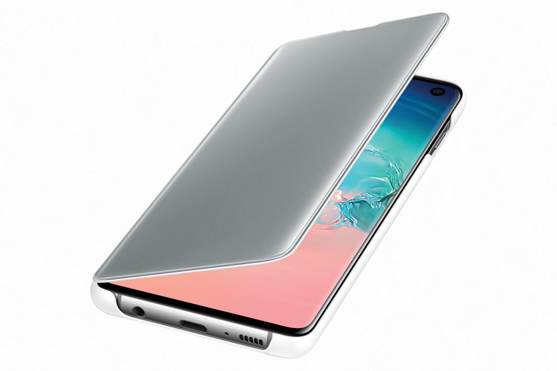 Flipové pouzdro Clear View Cover pro Samsung Galaxy S10+, bílá