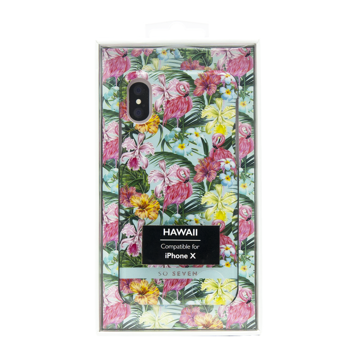 Zadní kryt SoSeven Fashion Paris Tropical Flamingoawai Case pro Apple iPhone X/XS