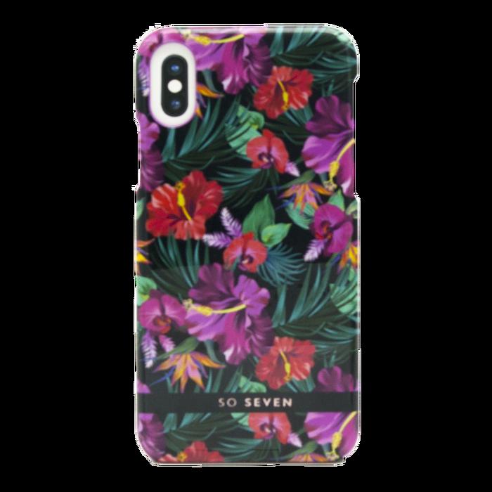 Zadní kryt SoSeven Fashion Paris Tropical pro Apple iPhone X/XS, Black