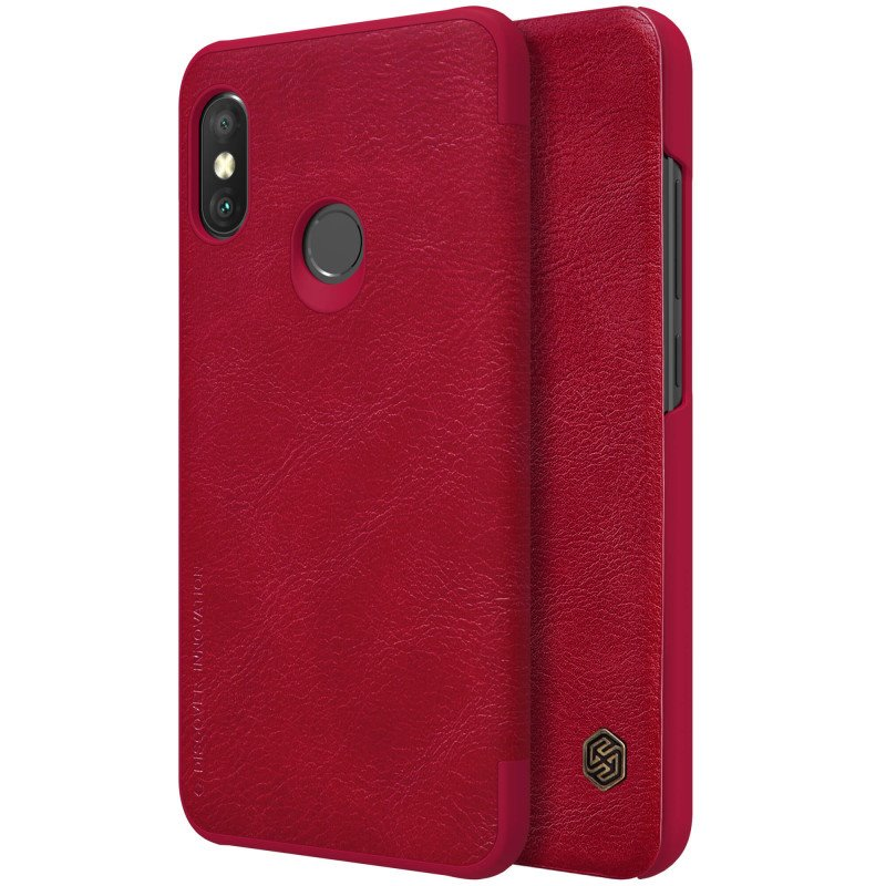 Flipové pouzdro Nillkin Qin Book pro Xiaomi Redmi Note 7, red