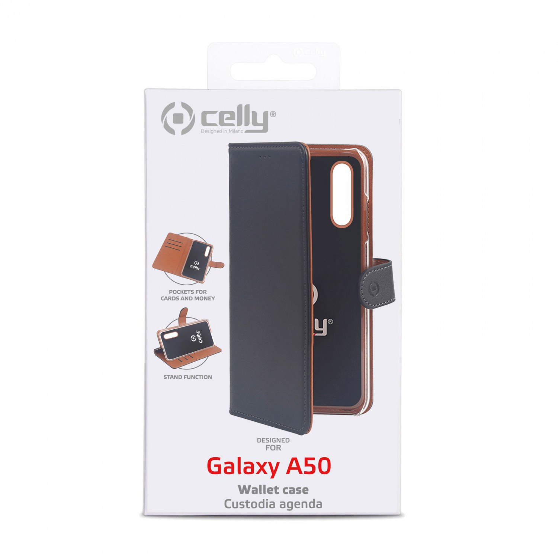 CELLY Wally flipové pouzdro pro Samsung Galaxy A50, černé