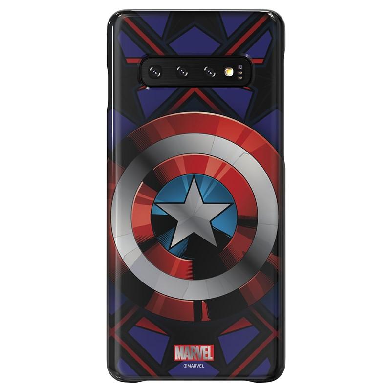 Zadní kryt Marvel Captain America x Galaxy Friends Samsung Galaxy S10+