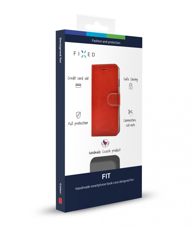 FIXED FIT flipové pouzdro pro Xiaomi Pocophone F1, červené