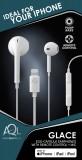 In-ear sluchátka CellularLine GLACE s mikrofonem a konektorem Lightning, bílá