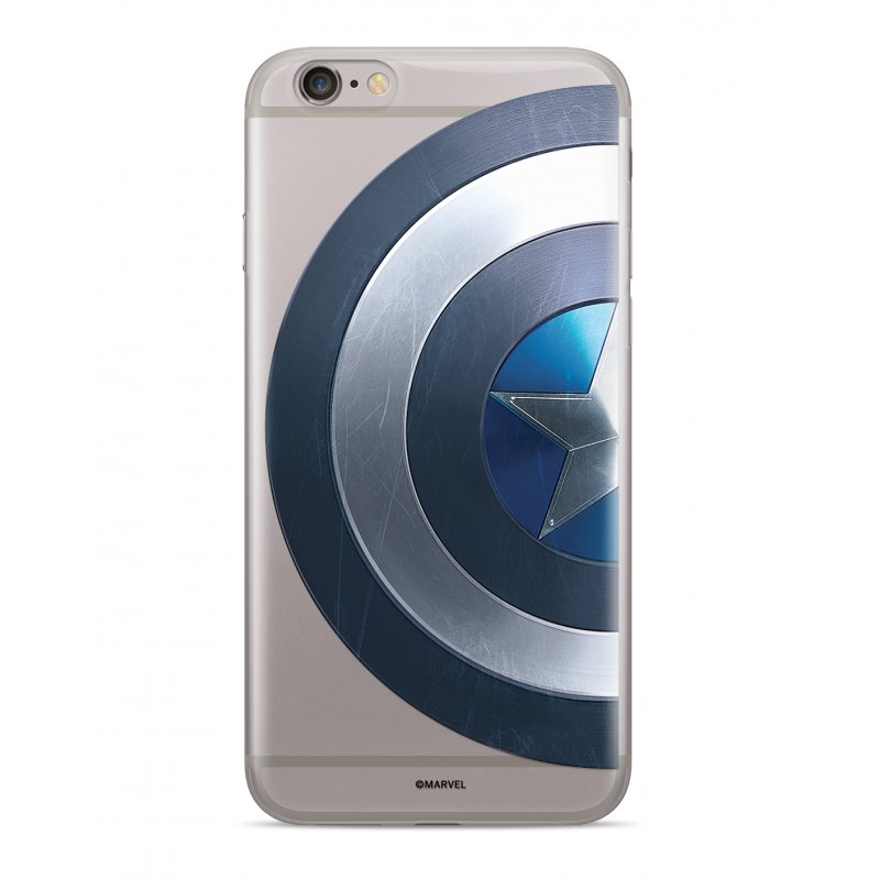 Zadní kryt Marvel Captain America 006 pro Apple iPhone XR, transparent