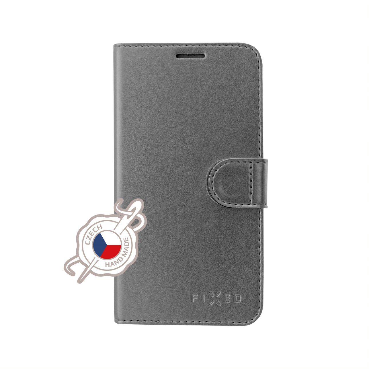 FIXED FIT SHINE flipové pouzdro pro Xiaomi Redmi Note 7/7 Pro, antracitové
