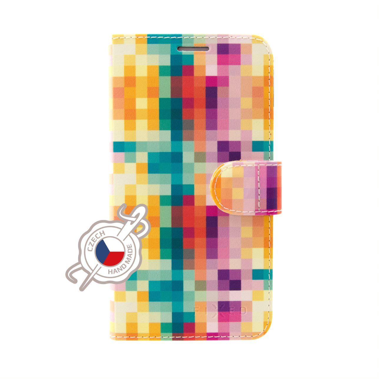 FIXED FIT flipové pouzdro pro Xiaomi Redmi Note 7/7 Pro, motiv Dice