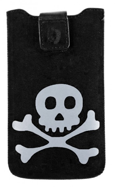 Pouzdro FRESH velikost Samsung GALAXY S5 TEENS 03 black (Skull) (150x80x10mm)