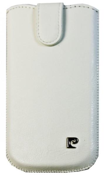 Pouzdro Pierre Cardin - SLIM, vertikální, velikost Samsung i9300 Galaxy SIII, bílě (137x75x10mm)