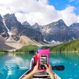 """CELLY Splash Bag 2019 voděodolné pouzdro pro telefony 6,5"""", růžové"""