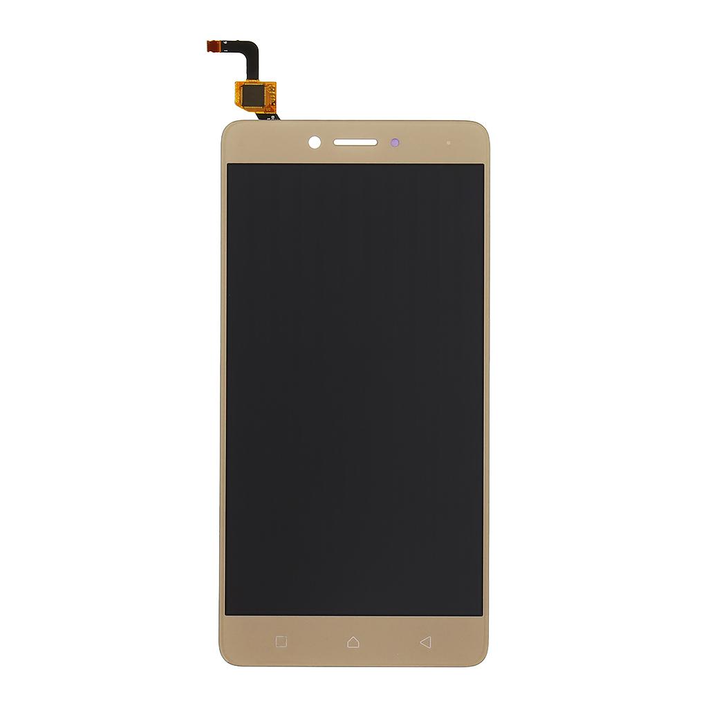 LCD + dotyk + přední kryt pro Lenovo K6/K6 Power, gold/zlatá