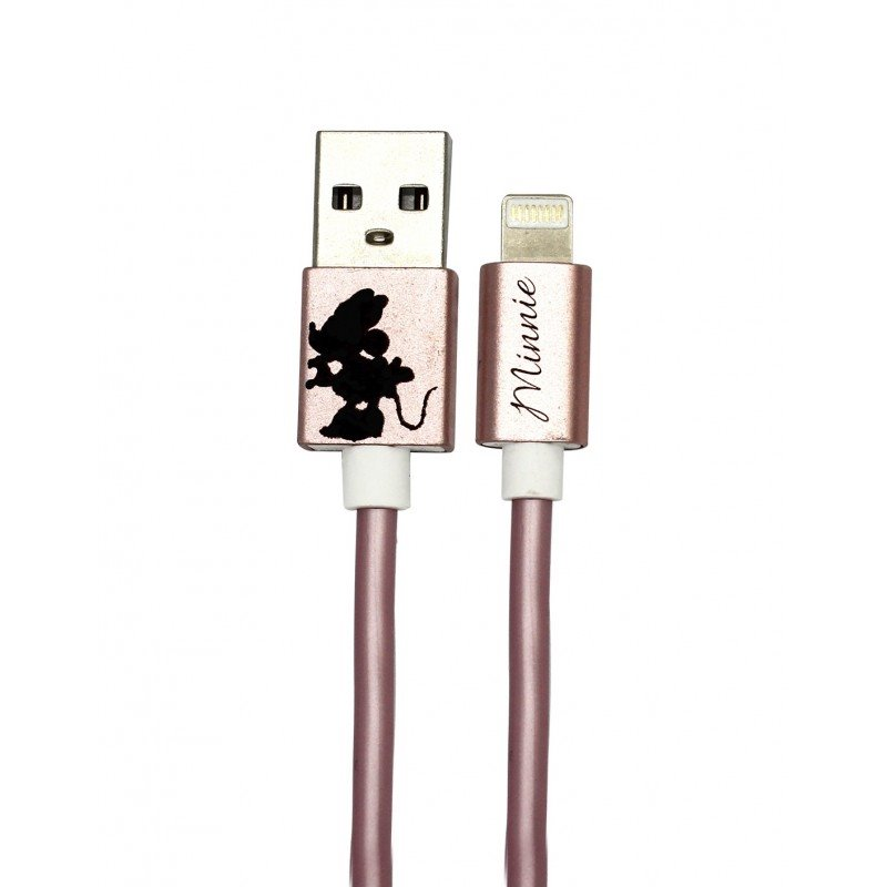 Disney Minnie Lightning Datový Kabel Kissing Alone Rose Gold (EU Blister)