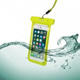 """CELLY Splash Bag voděodolné pouzdro pro telefony 6,2"""", žluté"""