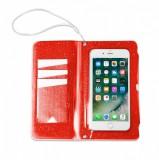 """CELLY Splash Wallet voděodolné pouzdro na telefony 6.2 """", oranžové"""