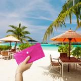 """CELLY Splash Wallet voděodolné pouzdro na telefony 6.2 """", růžové"""