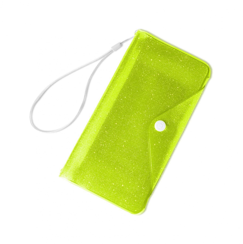 """CELLY Splash Wallet voděodolné pouzdro na telefony 6.2 """", žluté"""