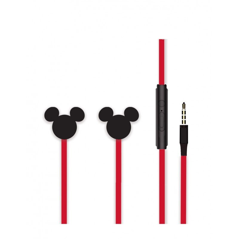 Disney Stereo Sluchátka 3.5mm Mickey Matt Black 3D