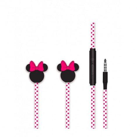 Disney Stereo Sluchátka 3.5mm Minnie Matt Pink 3D