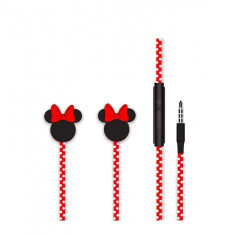 Disney Stereo Sluchátka 3.5mm Minnie Matt Red 3D