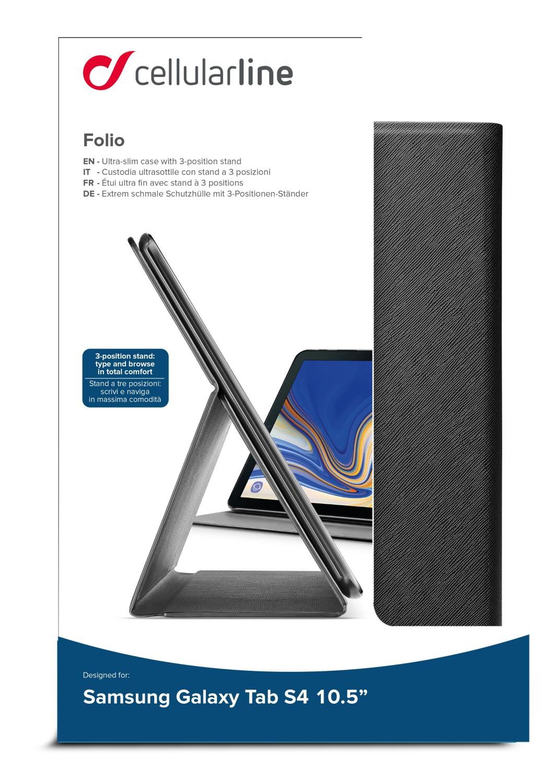 "CellularLine FOLIO pouzdro flip pro Samsung Galaxy TAB S4 10.5"", černé"