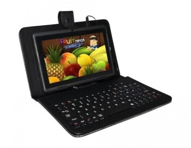 """Pouzdro Tablet 10"""" s klávesnicí microUSB černé, syntetická kůže, bulk"""