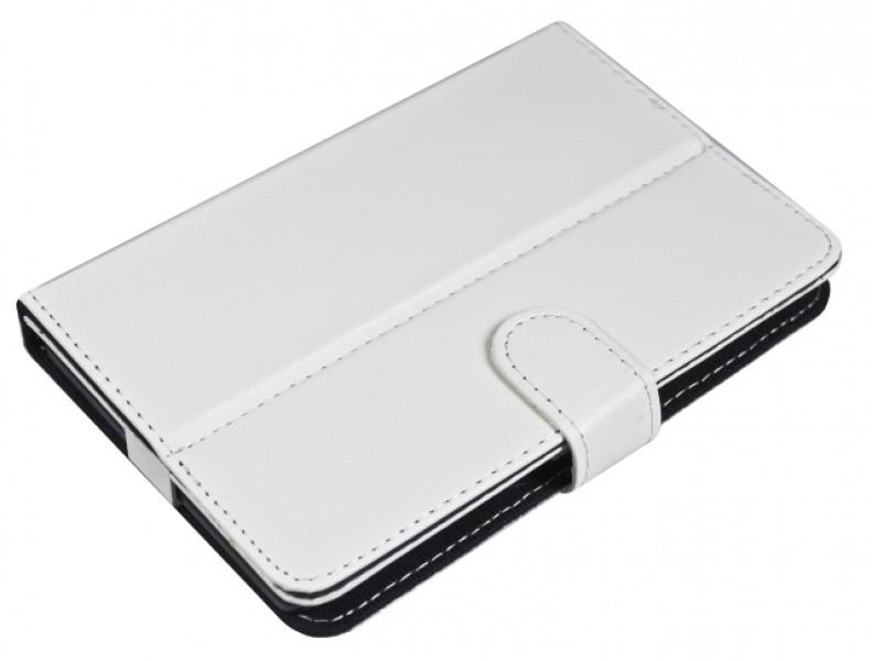 """Pouzdro TABLET BOOK 7"""" white (195x120mm), se stojánkem, univerzální, syntetická kůže"""
