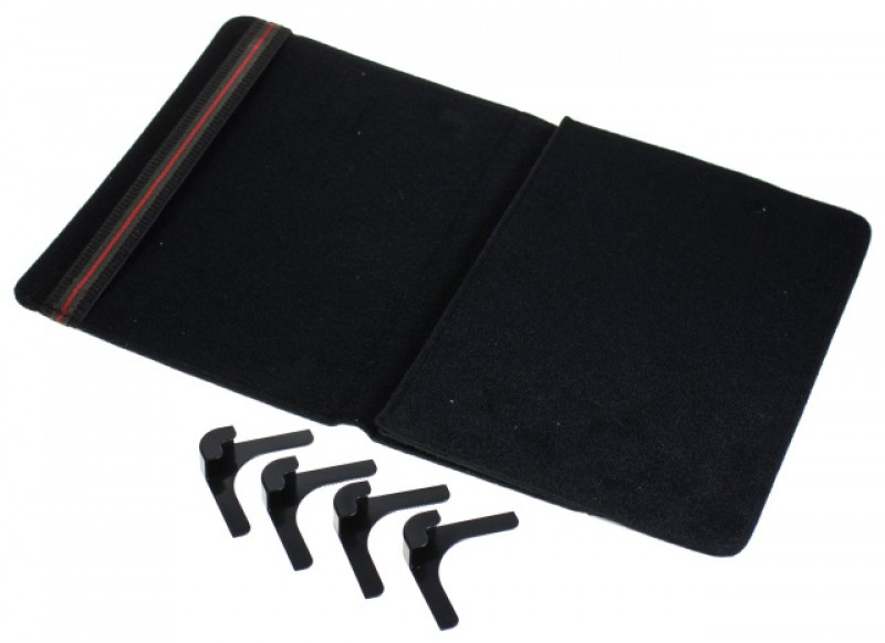 """Pouzdro TABLET VELCRO 7"""", se stojánkem, univerzální, syntetická kůže, white"""