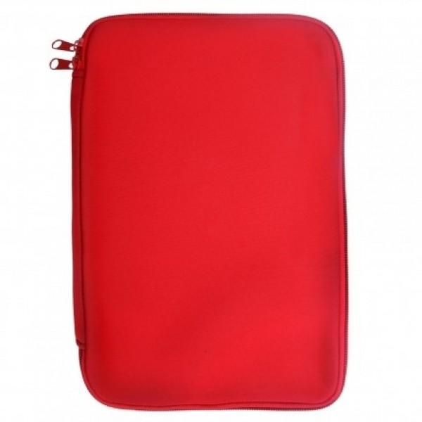 """Pouzdro TABLET neopren 7""""- 8,9"""" red (22x14cm), zapínaní na zip, univezální"""