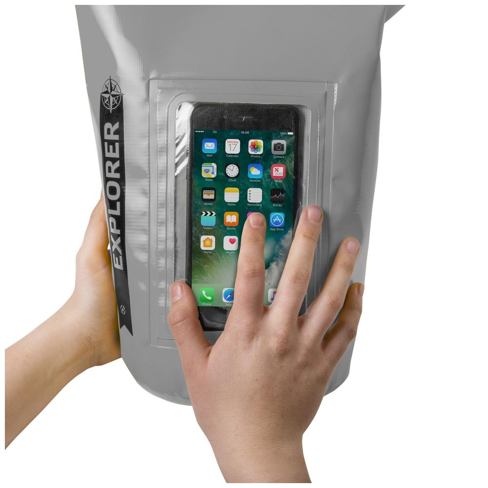 """CELLY Explorer voděodolný vak 2L s kapsou na telefon do 6.2"""", šedý"""