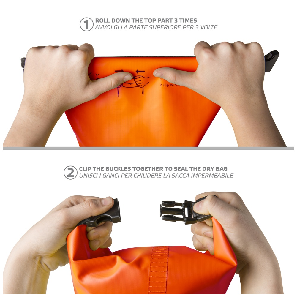 """CELLY Explorer voděodolný vak 2L s kapsou na telefon do 6.2"""", oranžový"""