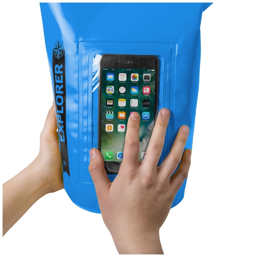 """CELLY Explorer voděodolný vak 5L s kapsou na telefon do 6.2"""", modrý"""