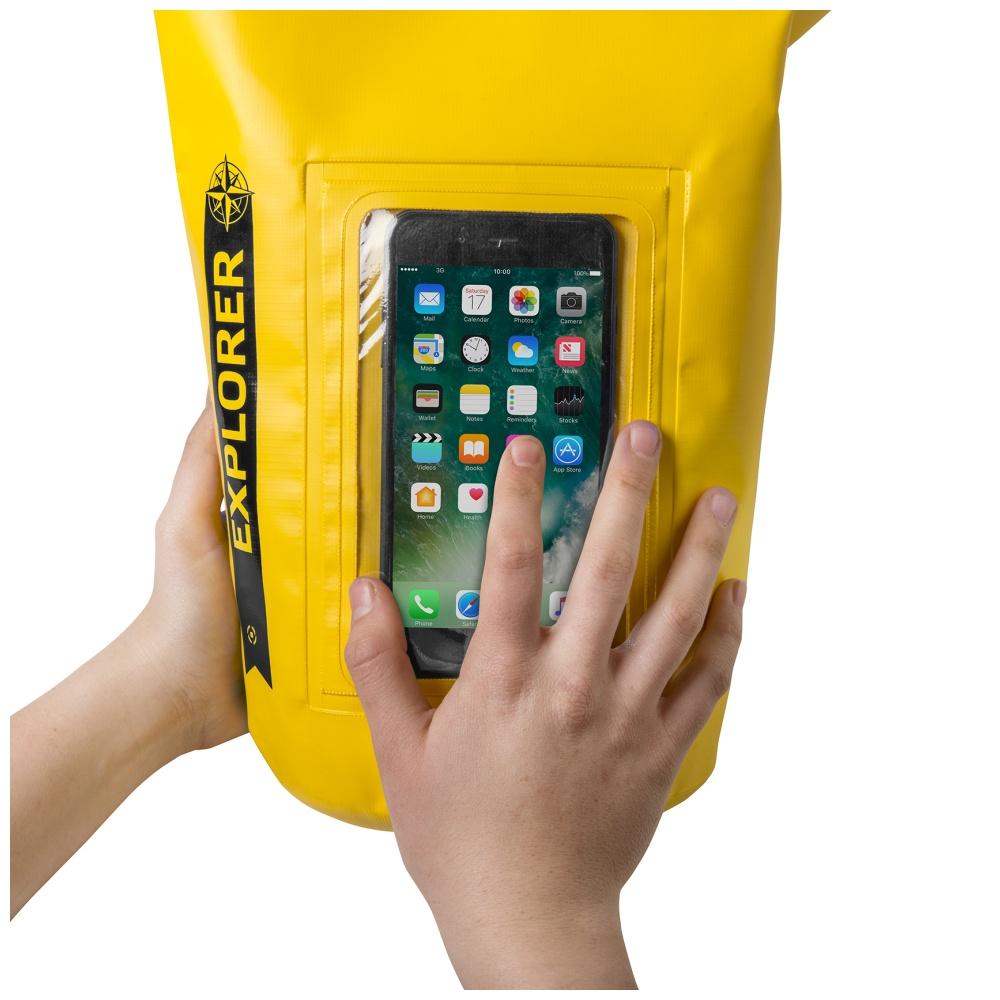 """CELLY Explorer voděodolný vak 5L s kapsou na telefon do 6.2"""", žlutý"""