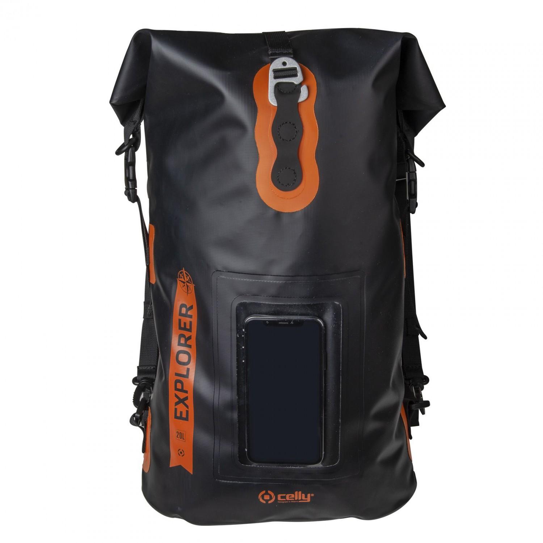 """CELLY Explorer voděodolný batoh 20L s kapsou na telefon do 6.5"""", černý"""