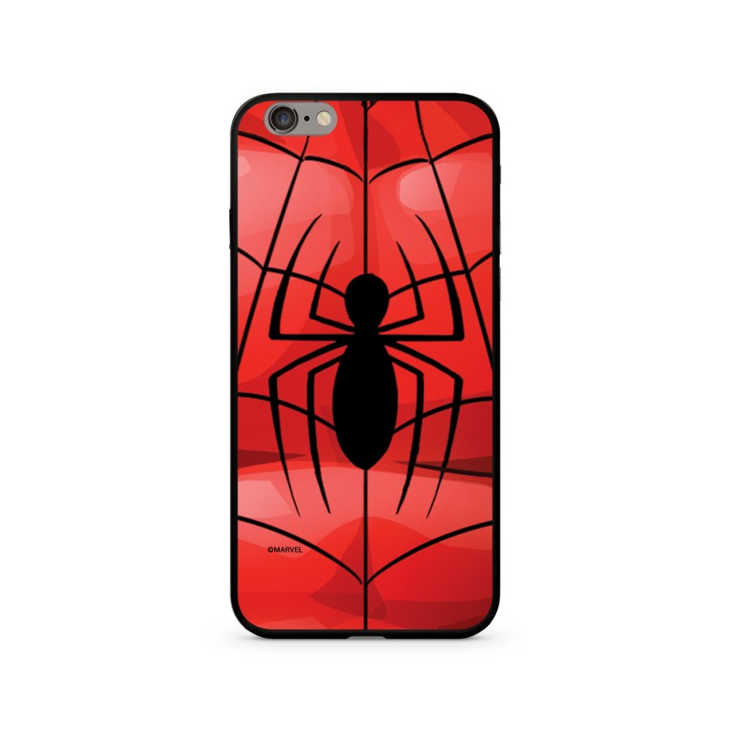 Spiderman 017 Premium Glass Zadní Kryt pro iPhone XS Red
